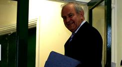 Owen O'Callaghan arrives at Dublin Castle in 2008 to give evidence as a witness at the Mahon Tribunal. Photo: Tom Burke