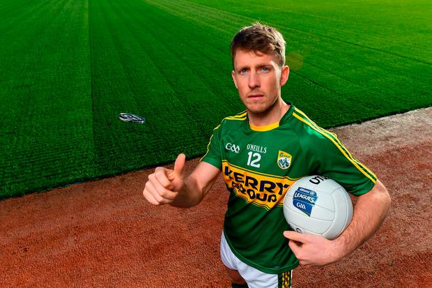 Donnchadh Walsh in Croke Park yesterday to launch the Allianz Naltional Football Leagues. Photo by Brendan Moran/Sportsfile