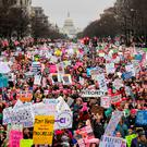 'The so-called Women's Marches held around the world reminded us why Mr Trump won.' Photo: Reuters/Bryan Woolston
