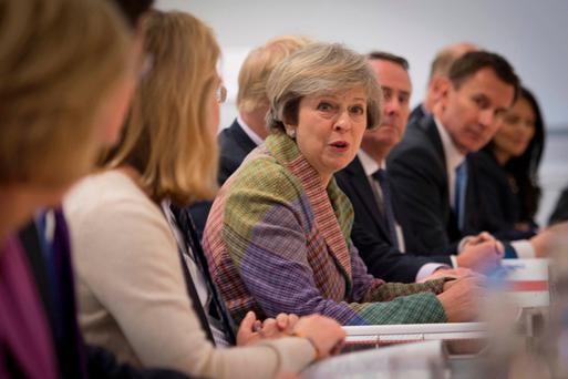 British Prime Minister Theresa May's speech last week equally took quite an aggressive tone on inward investment. Photo: Reuters/Stefan Rousseau/Pool