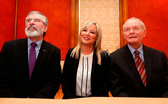 Michelle O'Neill became the party's leader in Northern Ireland yesterday. Photo: Getty Images
