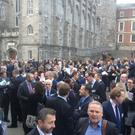 European Financial Forum attendees evacuated from building