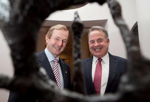 Enda Kenny pictured with outgoing Etihad boss James Hogan