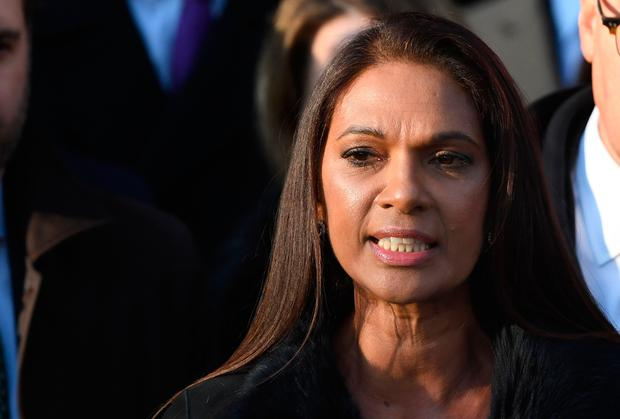 Gina Miller speaking outside The Supreme Court in London