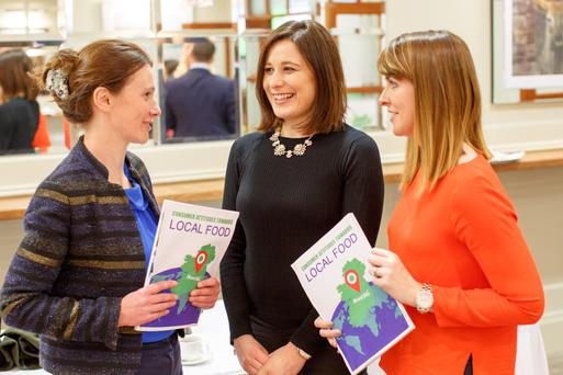Pictured are Bord Bia's Mary Morrissey with Louise Ryan and Aisling Murphy from Oh! Naturelle, Cork.