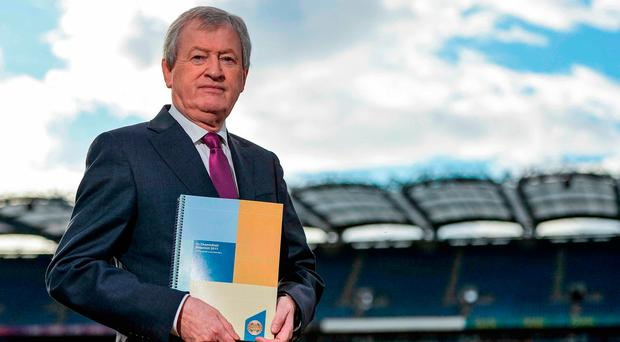Paraic Duffy in Croke Park yesterday at the launch of the Ard Stiúrthóir's Annual Report. Photo: Seb Daly/Sportsfile