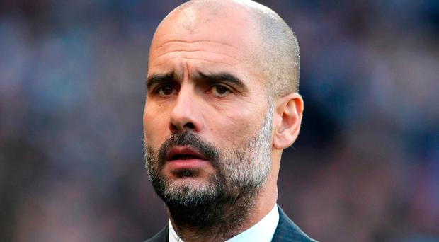 Manchester City manager Pep Guardiola. Photo: Martin Rickett/PA Wire