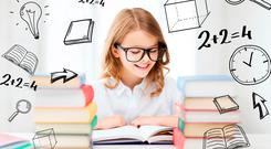 The reading skills of thecountry's fourth-class pupils improved dramatically over a five-year period. Stock image