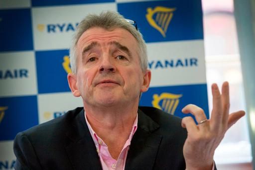 Ryanair CEO Michael O'Leary launches the airline's Winter 2017 Schedule at The Central Hotel in Dublin. Photo: Colin O'Riordan