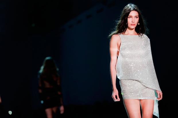 d8db4c790419 Bella Hadid walks the runway during the Alexandre Vauthier Spring Summer  2017 show as part of