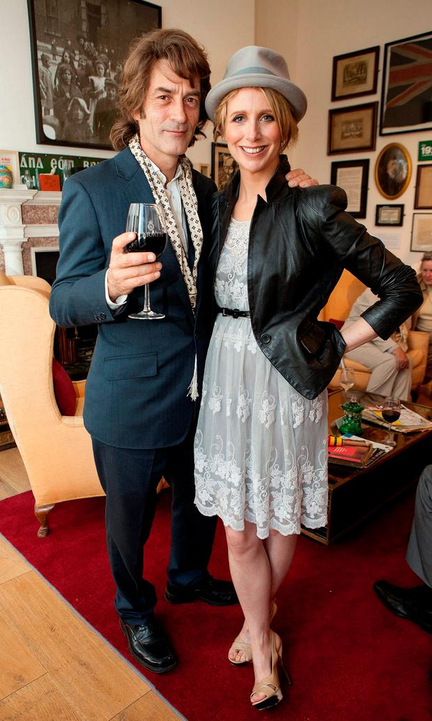 Nicholas MacInnes and Aisling O'Loughlin at the launch of the exclusive limited edition Carmen Explorer bags, which have been designed exclusively by Irish designer Pauric Sweeney for Carmen wines at the Little Museum of Dublin on Stephens Green. Picture: Peter Houlihan