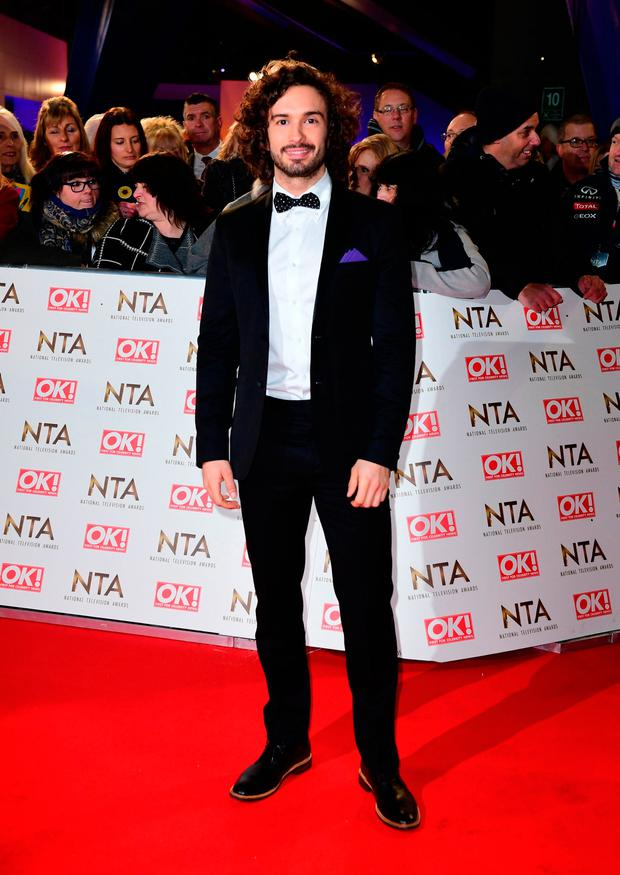 Joe Wicks aka 'The Body Coach' arriving at the National Television Awards 2017, held at The O2 Arena, London. PRESS ASSOCIATION Photo. Picture date: 25th January, 2017. See PA Story SHOWBIZ NTAs. Photo credit should read: Ian West/PA Wire