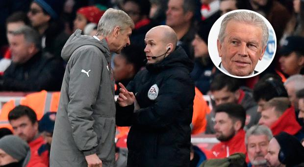 John Giles was not impressed by Arsene Wenger's conduct