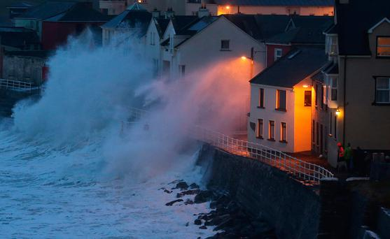 Ireland is facing an increased risk of damage from winter storms along the Atlantic coastline, such as at Lahinch in 2014 Picture: PA