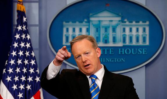 Sean Spicer: bid to ban federal funding for 'sanctuary cities' Picture: Reuters
