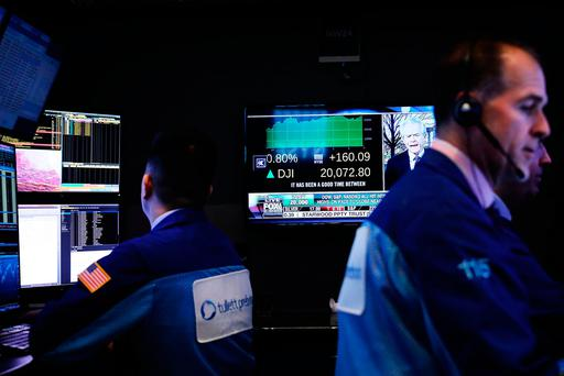 Traders work on the floor of the New York Stock Exchange (NYSE) Photo: Getty Images