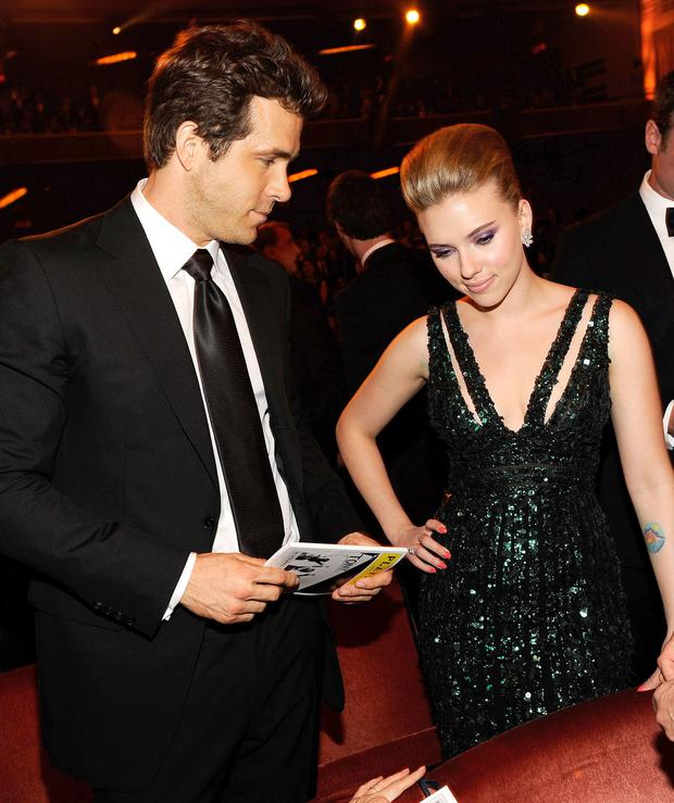 Scarlett Johansson and ex-husband Ryan Reynolds