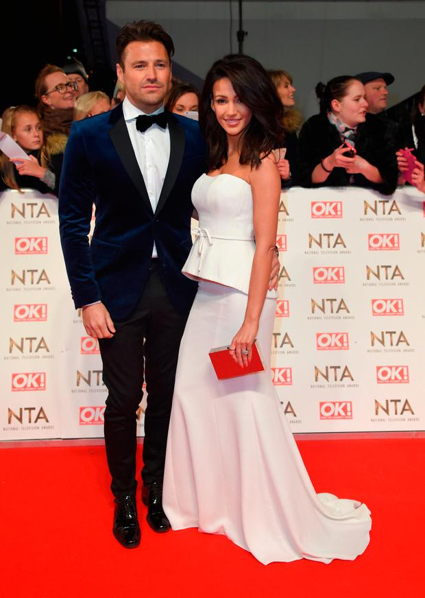 Mark Wright and Michelle Keegan attend the National Television Awards on January 25, 2017 in London, United Kingdom. (Photo by Anthony Harvey/Getty Images)