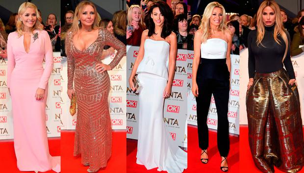 (L to R) Holly Willoughby, Carol Vorderman, Michelle Keggan, Tess Daly and Katie Price
