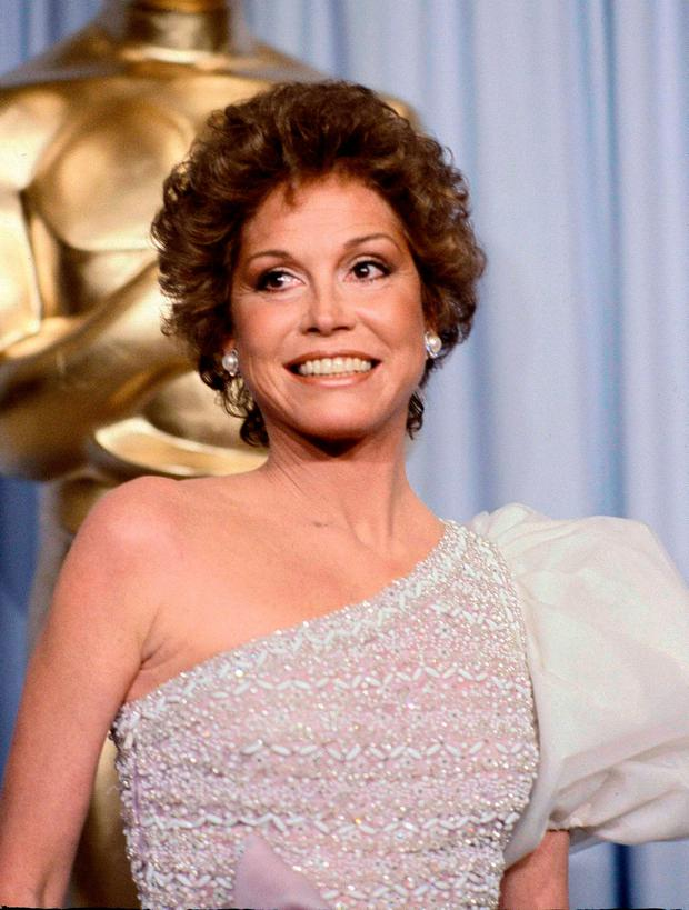 Mary Tyler Moore at the 53rd Academy Awards in Los Angeles in 2008. Moore, nominated for Best Actress for her film