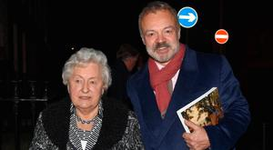 Graham Norton and his mother Rhoda at a private event in The National Gallery of Ireland