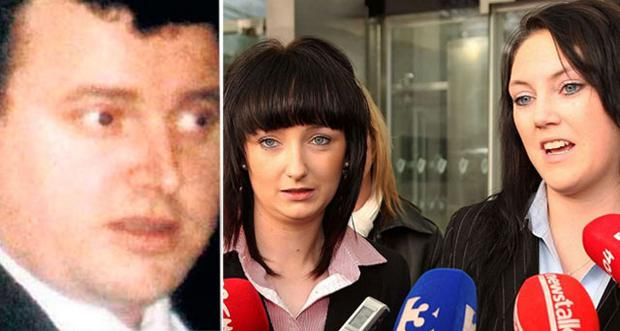 Kevin Owen McDonnell (45), pictured left, and (right) victims Charlene Barrett and Kelly Geraghty speak to the media after the sentencing in 2011