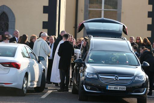 Daniel O'Keeffe's funeral. Picture: INM