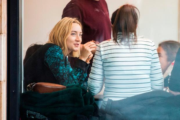 Saoirse Ronan at Laine, my Love Cafe on Talbot St, Dublin. Picture: Doug O'Connor