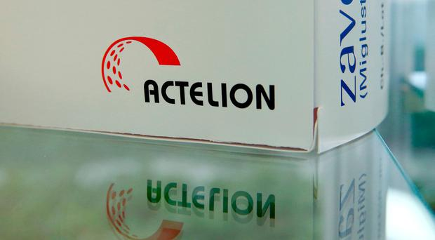 Actelion shares jumped 20pc in mid-afternoon yesterday as investors welcomed the deal. Photo: Reuters