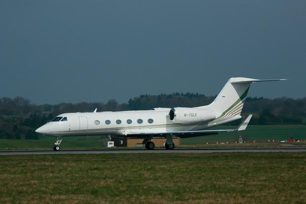A Gulfstream IV jet similar to the government jet