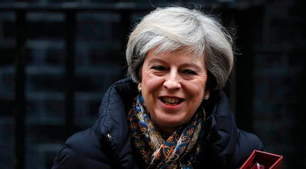 Irish visit: Theresa May. Photo: REUTERS/Stefan Wermuth