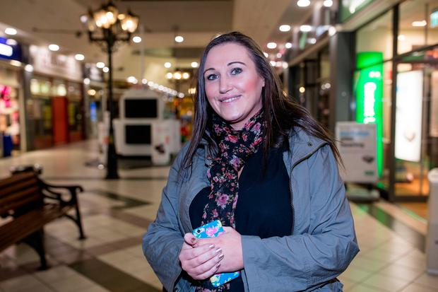 Emma Gordon gives her reaction to rumour that the winning ticket in the Euromillions was sold in The Mill Shopping Centre in Clondalkin. Picture: Arthur Carron