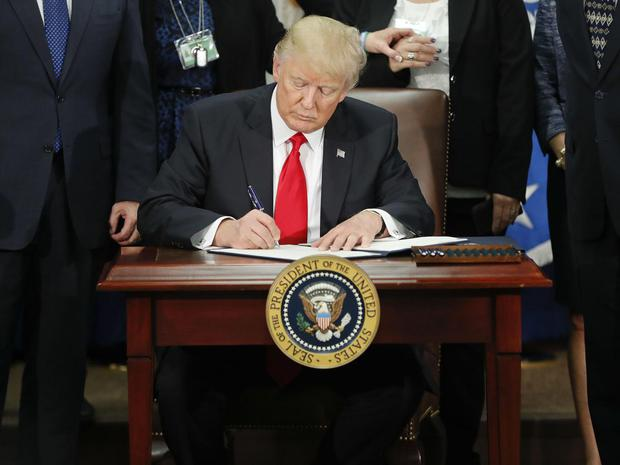 On 25 January 2017, President Donald Trump signed an executive order for border security and immigration enforcement improvements at the Department of Homeland Security AP