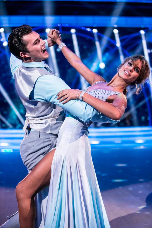 Thalia Heffernan dancing with Curtis Pritchard during the Second live show of RTE's Dancing with the Stars. Picture: KOBPIX