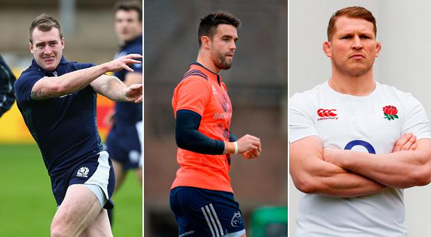 Stuart Hogg (Scotland), Conor Murray (Ireland) and Dylan Hartley (England) are in the XV but no Welshman