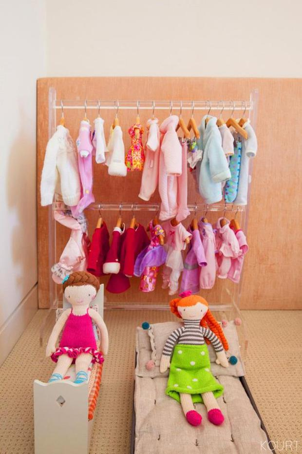 Penelope's dolls' wardrobe in her bedroom Image: Kourtneykardashian.com
