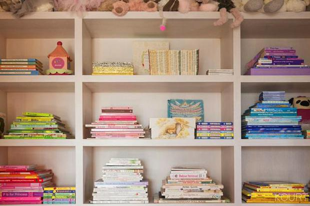 The shelves in Penelope's bedroom in Calabasas Image: Kourtneykardashian.com