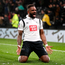Derby County's Darren Bent celebrates scoring his side's first goal against Leicester City during the FA Cup fourth round match at Pride Park. PRESS ASSOCIATION Photo.