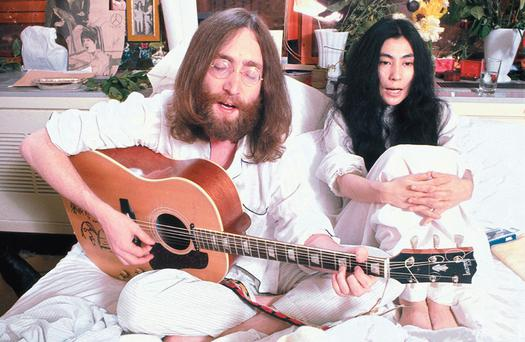 John Lennon and Yoko Ono in 1968
