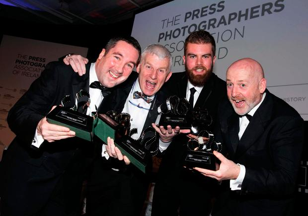 Pictured are Kerry Winners, Brendan Moran, Sportsfile, Domnick Walsh, Stephen McCarthy, Sportsfile, Bryan O'Bryan, Irish Times. Picture by Shane O'Neill Photography.