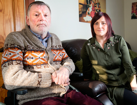 Gerard Cassidy at home with his daughter Emma Cassidy Photo: Tony Gavin
