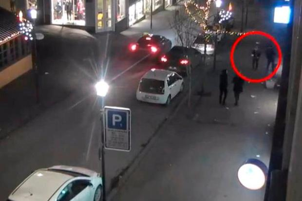 Birna Brjansdottir is captured on CCTV walking down a street in Reykjavik on the night she disappeared. Photo: Reykjavik Metropolitan Police