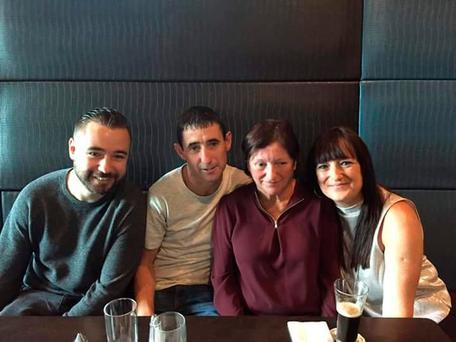 Vera Ronan on Mothers Day with her two sons Daniel and Jonathan and daughter Natalie