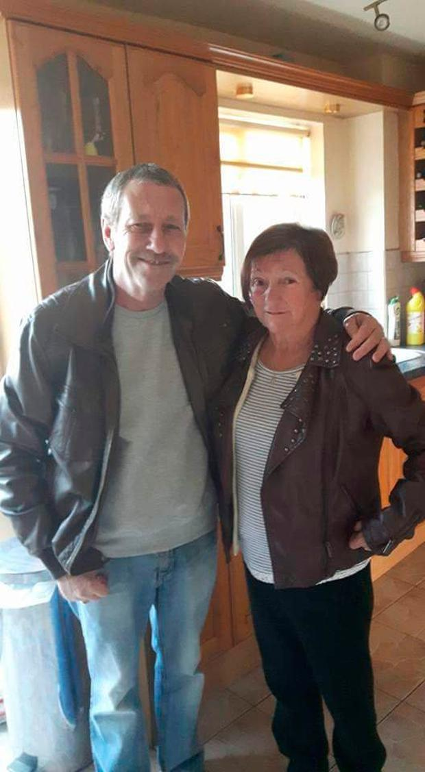 Vera Ronan with her husband John taken after her accident