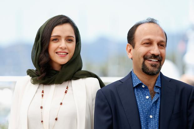 =Taraneh Alidoosti and director Ashgar Farhadi attend