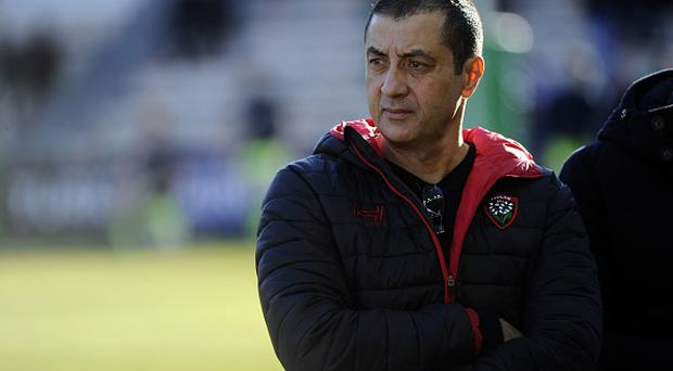 RC Toulon's French president Mourad Boudjellal looks on during the European Rugby Champions Cup match between RC Toulon and Sale Sharks on January 15, 2017 at the Mayol Stadium in Toulon, Southern France. / AFP / Franck PENNANT (Photo credit should read FRANCK PENNANT/AFP/Getty Images)