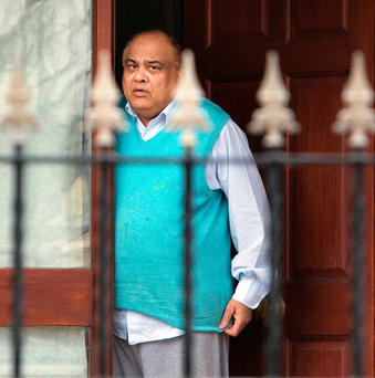 CAREER OVER: Dr Mohammed Ahmed Khan, who used to run a practice in Dublin, outside his house in Clonee. Photo: Tony Gavin