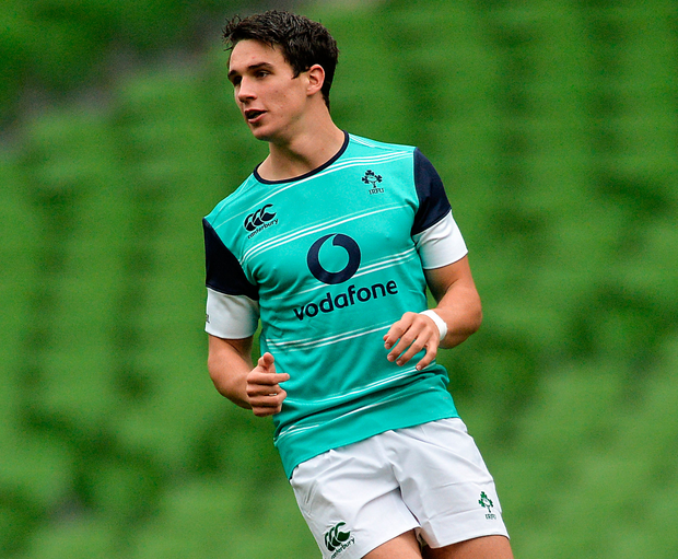 Joey Carbery is hoping to get back training with Ireland before the end of the Six Nations. Photo: Sportsfile