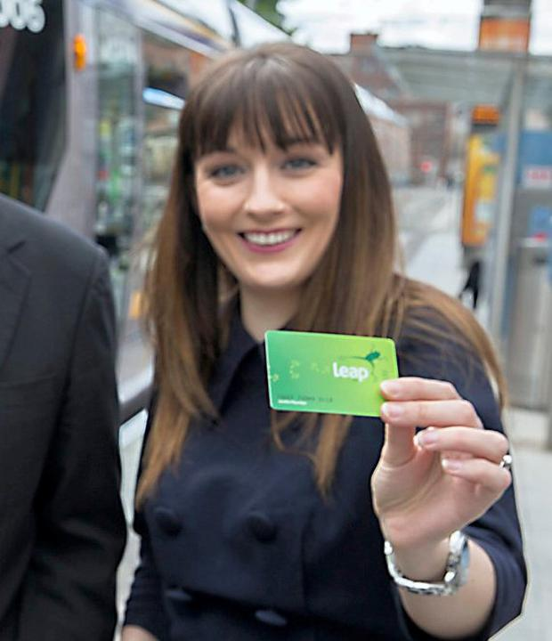 Ciara Harte pictured with a Leap card