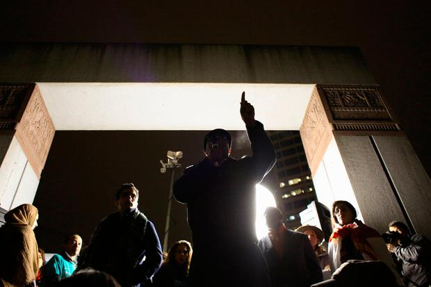 King County Councilmember Larry Gossett speaks during a protest held in response to President Donald Trump's travel ban, in Seattle, Washington, U.S. January 29, 2017. REUTERS/David Ryder